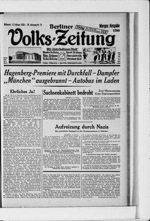 Berliner Volkszeitung vom 12.02.1930