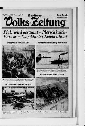 Berliner Volkszeitung vom 14.02.1930