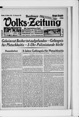 Berliner Volkszeitung on Feb 16, 1930