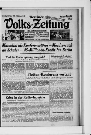 Berliner Volkszeitung vom 20.02.1930