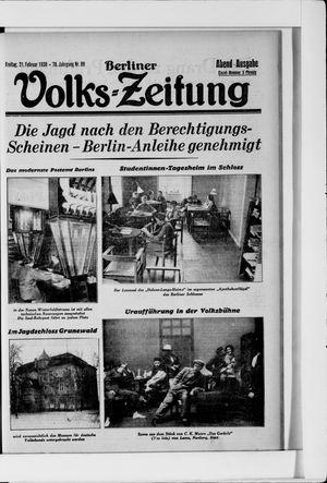 Berliner Volkszeitung vom 21.02.1930