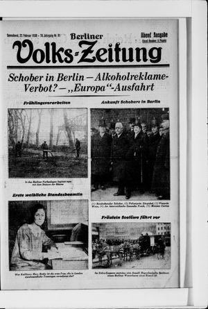 Berliner Volkszeitung vom 22.02.1930