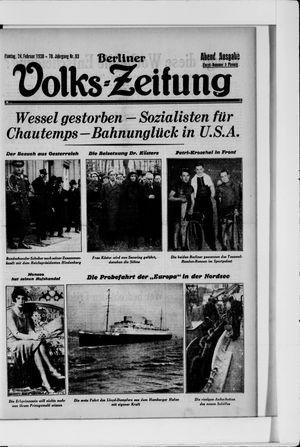 Berliner Volkszeitung vom 24.02.1930