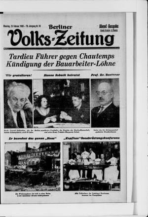 Berliner Volkszeitung vom 25.02.1930