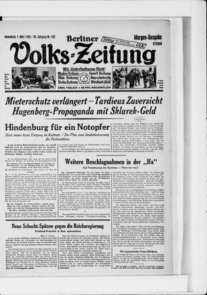 Berliner Volkszeitung on Mar 1, 1930