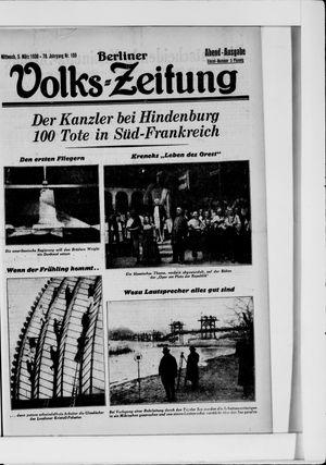 Berliner Volkszeitung on Mar 5, 1930