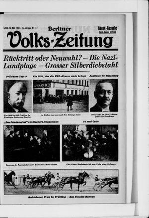 Berliner Volkszeitung vom 10.03.1930
