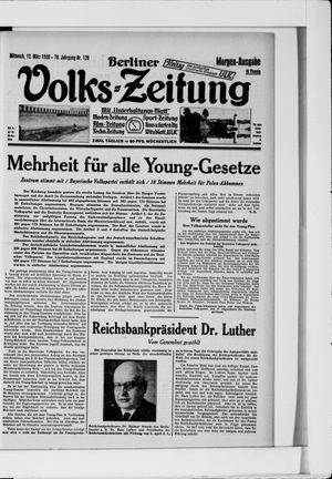 Berliner Volkszeitung vom 12.03.1930
