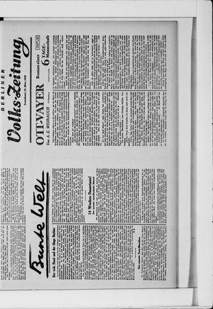 Berliner Volkszeitung vom 15.03.1930