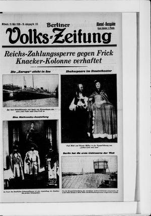 Berliner Volkszeitung vom 19.03.1930