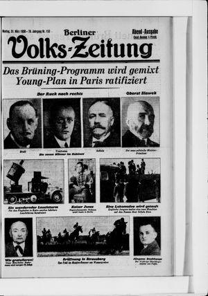 Berliner Volkszeitung vom 31.03.1930