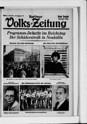 Berliner Volkszeitung vom 02.04.1930