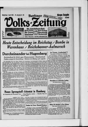 Berliner Volkszeitung vom 03.04.1930