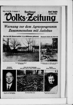 Berliner Volkszeitung vom 14.04.1930