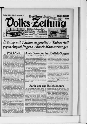 Berliner Volkszeitung on Apr 15, 1930