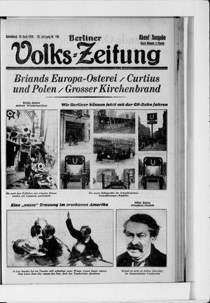 Berliner Volkszeitung vom 19.04.1930