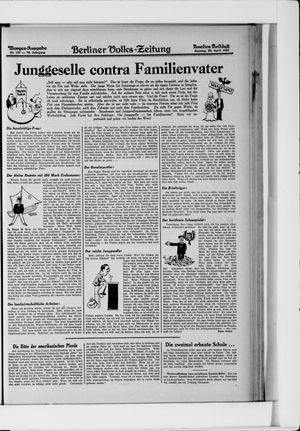 Berliner Volkszeitung vom 20.04.1930
