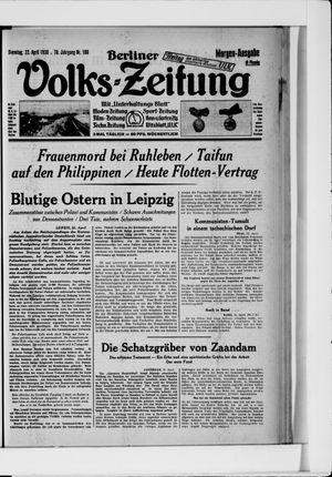 Berliner Volkszeitung vom 22.04.1930