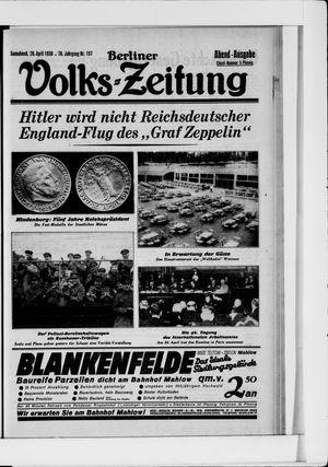 Berliner Volkszeitung vom 26.04.1930