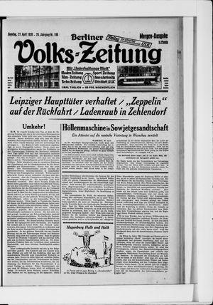 Berliner Volkszeitung vom 27.04.1930