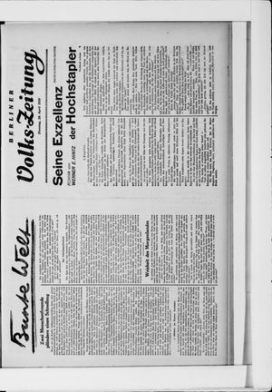 Berliner Volkszeitung vom 29.04.1930