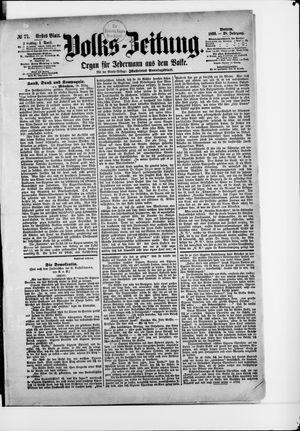 Volks-Zeitung vom 01.04.1890