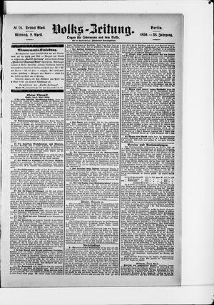 Volks-Zeitung vom 02.04.1890