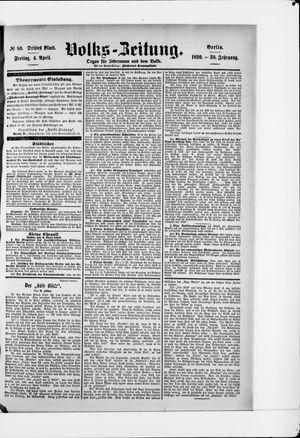 Volks-Zeitung vom 04.04.1890