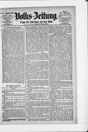 Volks-Zeitung vom 06.04.1890