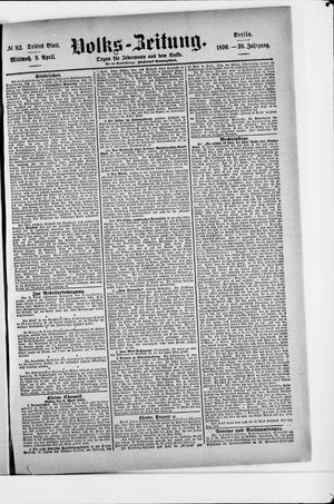 Volks-Zeitung vom 09.04.1890
