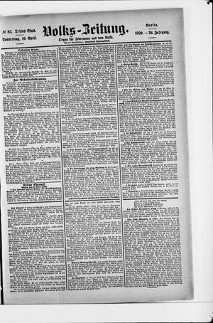 Volks-Zeitung vom 10.04.1890