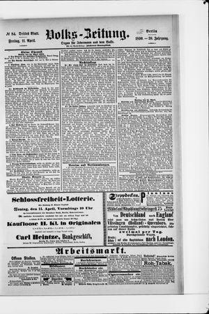 Volks-Zeitung vom 11.04.1890