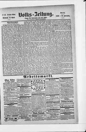 Volks-Zeitung vom 16.04.1890