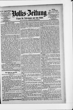 Volks-Zeitung vom 17.04.1890