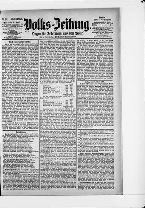 Volks-Zeitung vom 19.04.1890