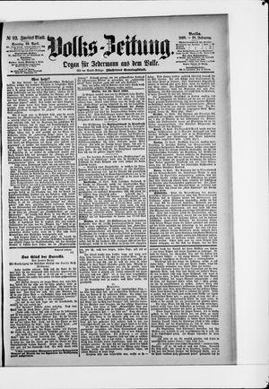 Volks-Zeitung vom 20.04.1890