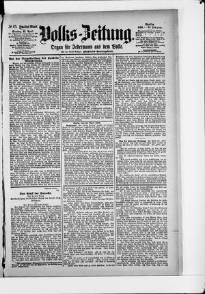 Volks-Zeitung vom 22.04.1890