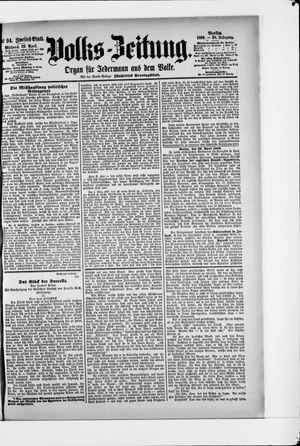 Volks-Zeitung vom 23.04.1890