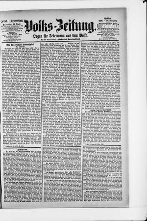 Volks-Zeitung vom 24.04.1890