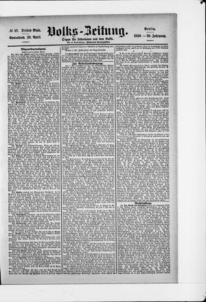 Volks-Zeitung vom 26.04.1890