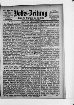 Volks-Zeitung vom 29.04.1890
