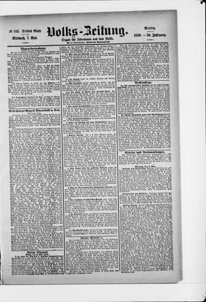 Volks-Zeitung vom 07.05.1890