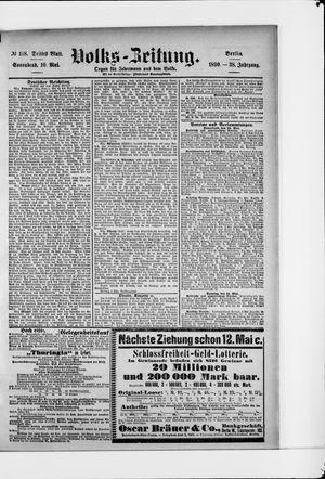 Volks-Zeitung vom 10.05.1890