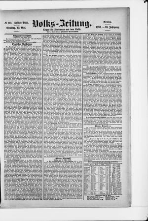Volks-Zeitung vom 13.05.1890