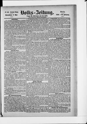 Volks-Zeitung vom 17.05.1890