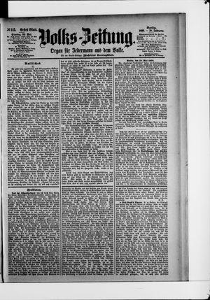 Volks-Zeitung vom 20.05.1890