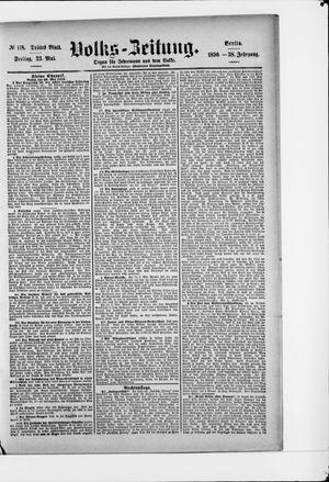 Volks-Zeitung vom 23.05.1890