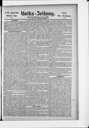 Volks-Zeitung vom 01.06.1890