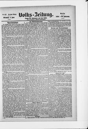 Volks-Zeitung vom 04.06.1890