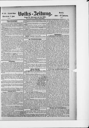 Volks-Zeitung vom 07.06.1890